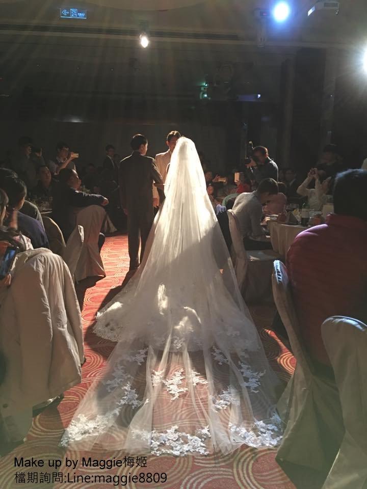 新娘白紗進場長頭紗 (18)
