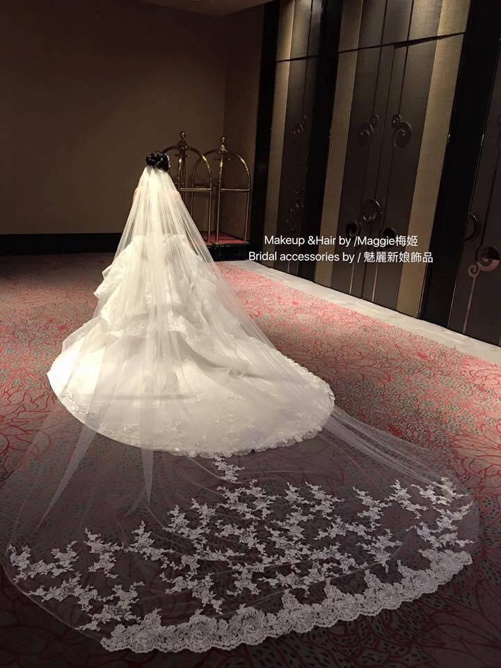 新娘白紗進場長頭紗 (20)