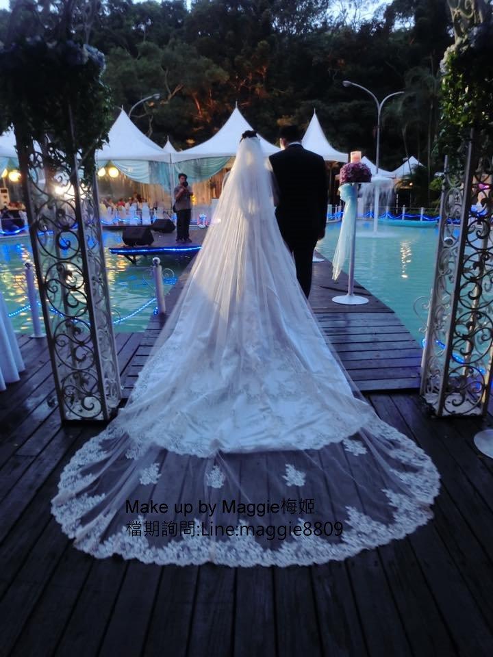 新娘白紗進場長頭紗 (22)