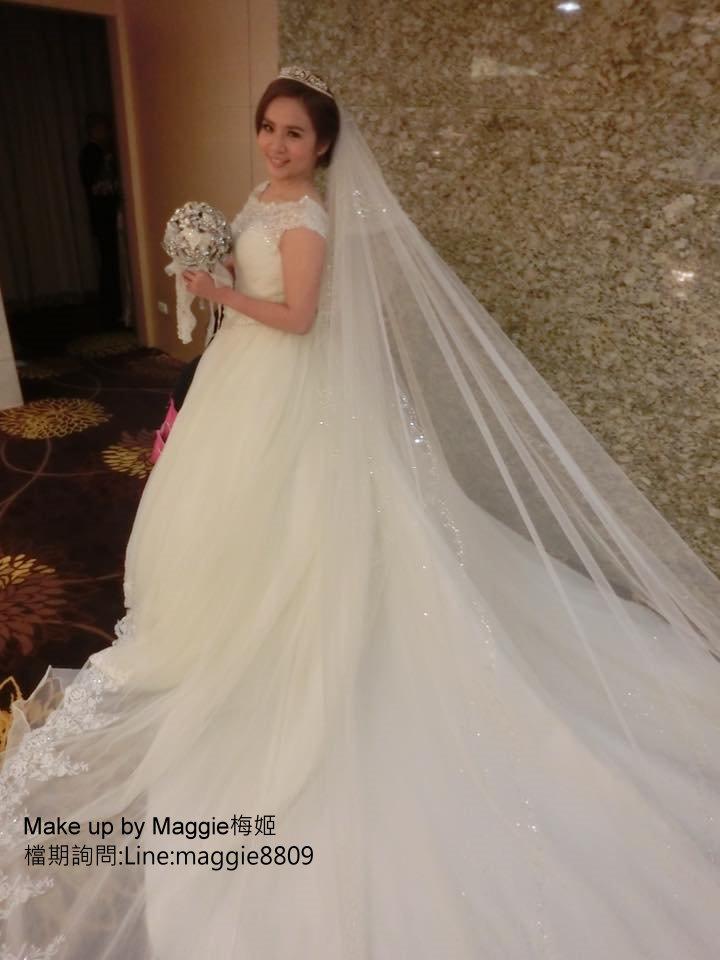 新娘白紗進場長頭紗 (23)