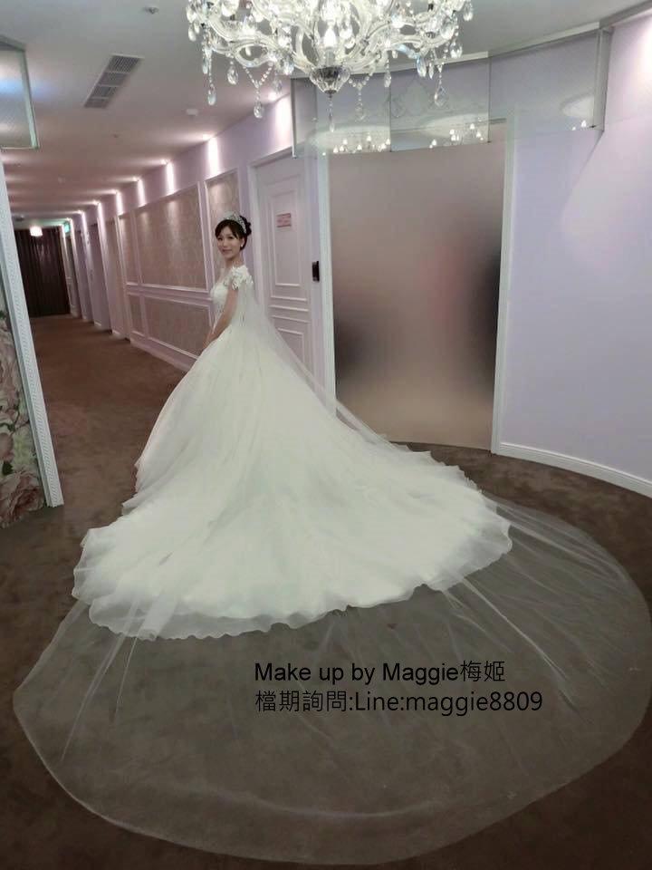 新娘白紗進場長頭紗 (26)