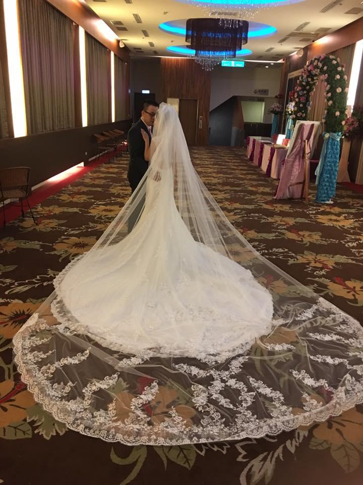 新娘白紗進場長頭紗 (27)