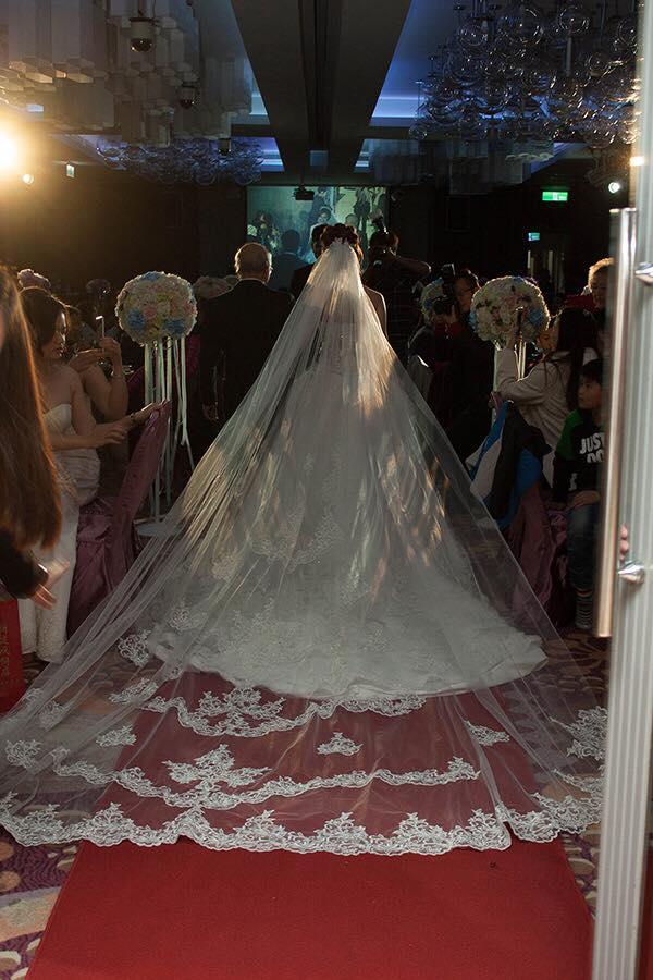 新娘白紗進場長頭紗 (29)