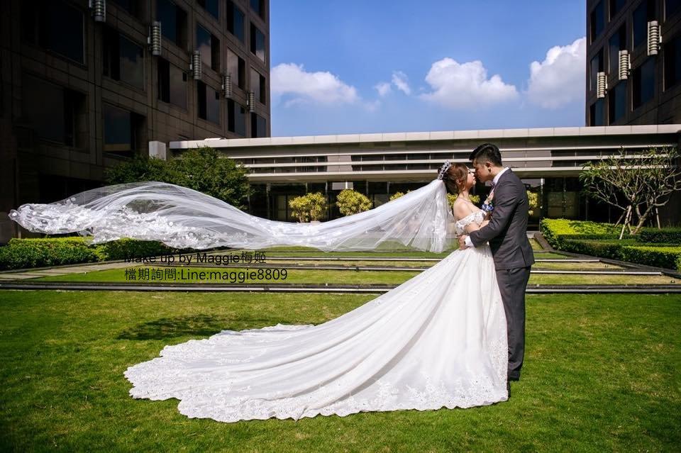 新娘白紗進場長頭紗 (3)