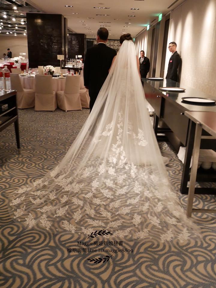 新娘白紗進場長頭紗 (30)