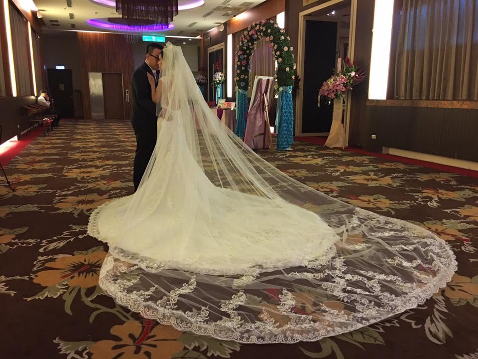 新娘白紗進場長頭紗 (32)