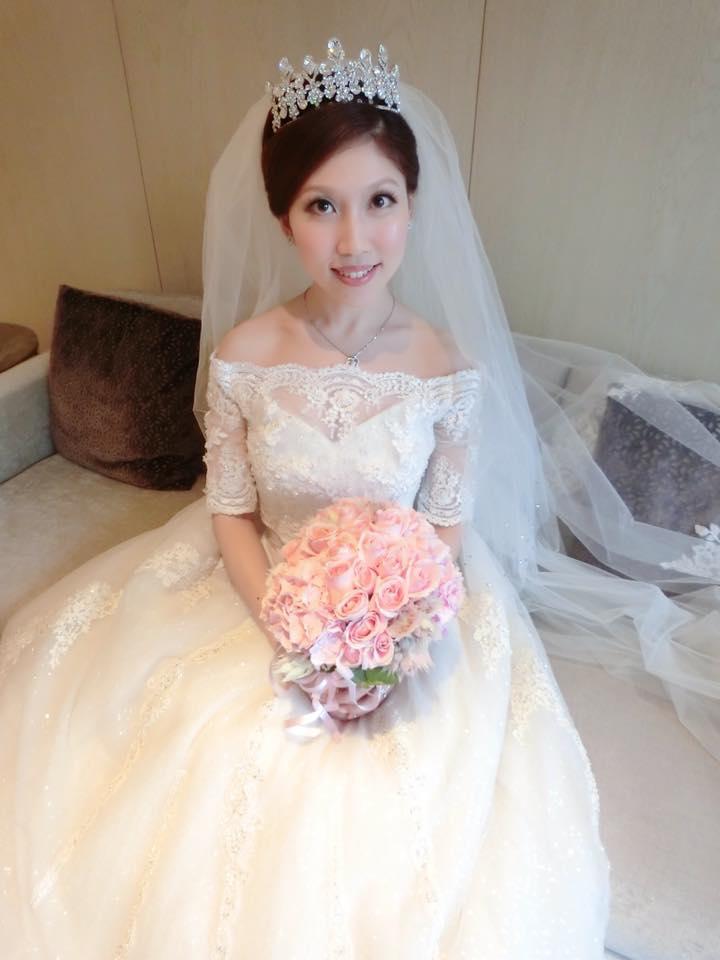 新娘白紗進場長頭紗 (35)