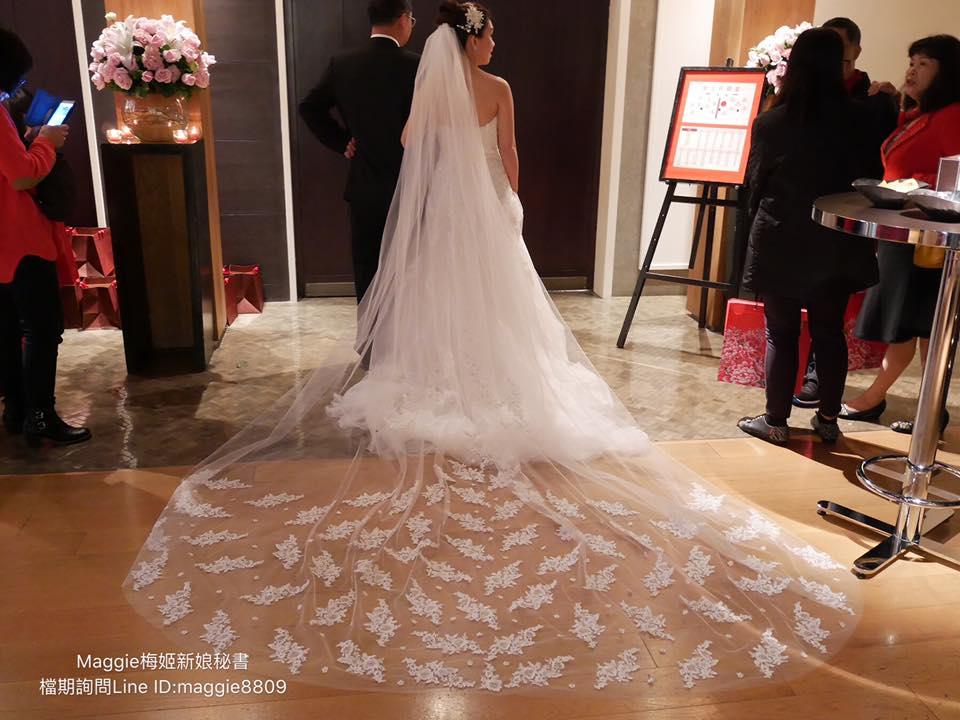 新娘白紗進場長頭紗 (39)