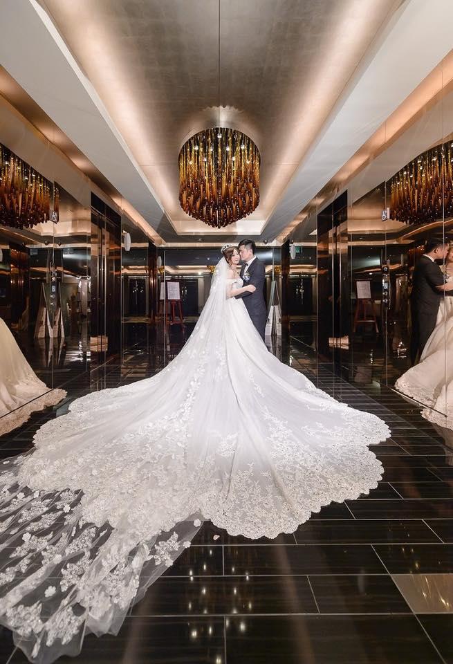 新娘白紗進場長頭紗 (42)
