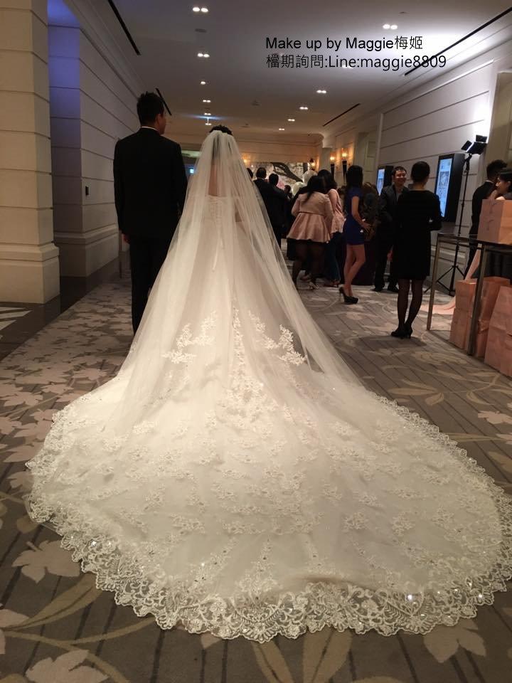 新娘白紗進場長頭紗 (7)