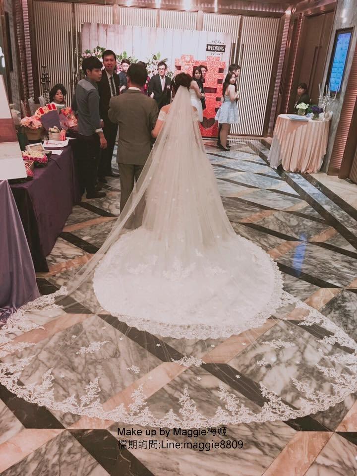 新娘白紗進場長頭紗 (8)