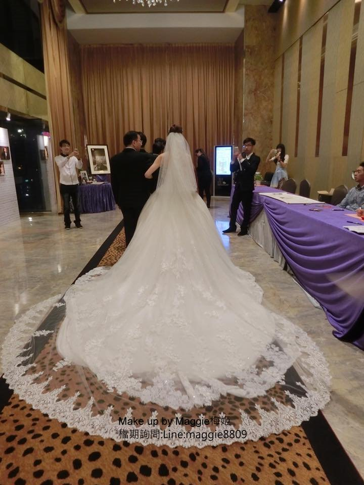 新娘白紗進場長頭紗 (9)
