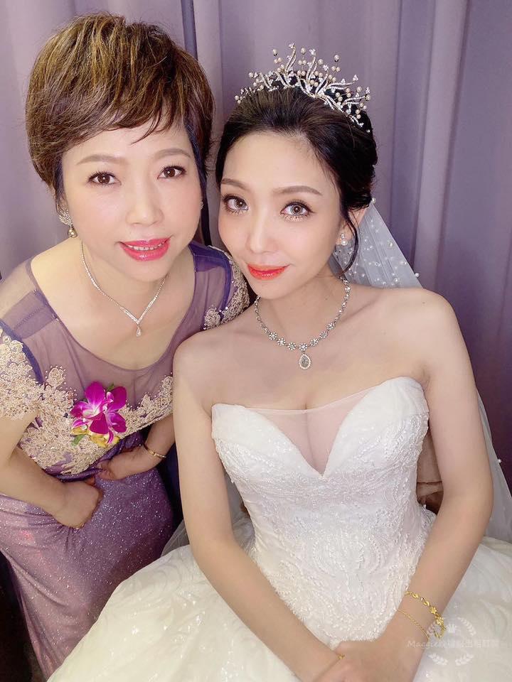 媽媽手工禮服 婚禮現場