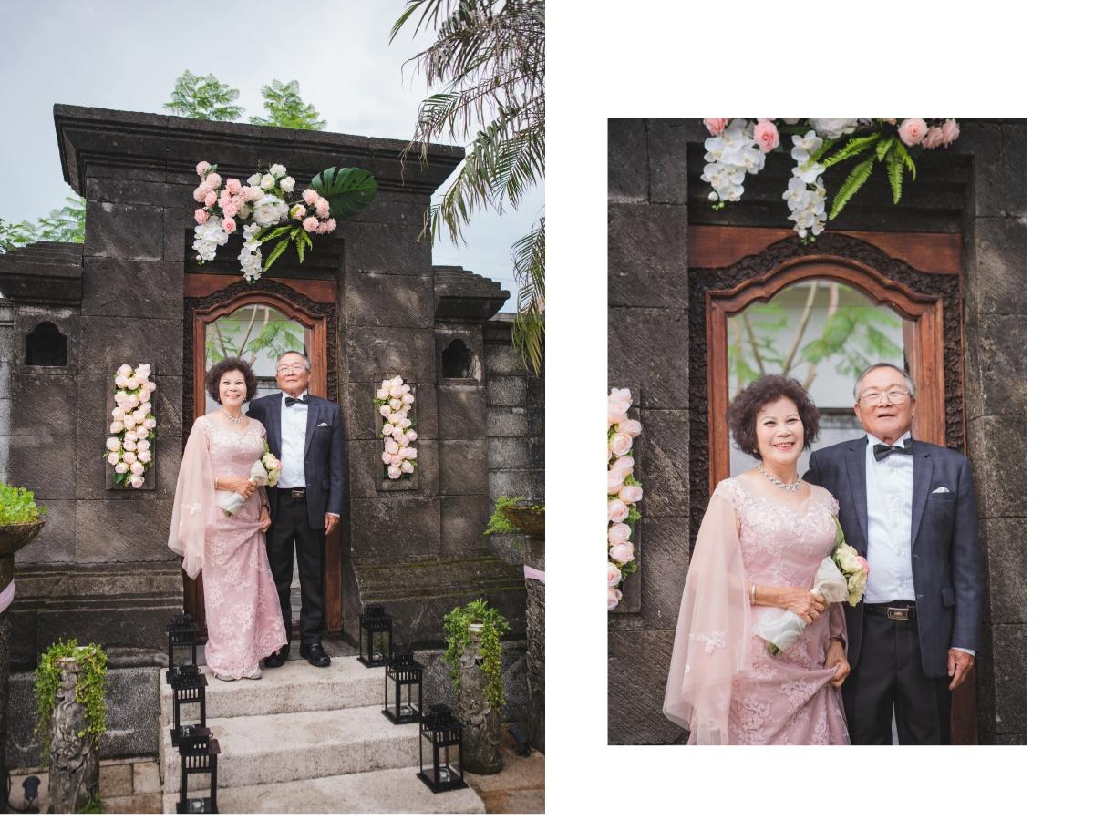 台北媽媽,禮服50年金婚紀念,媽媽晚禮服,爸爸歐式西服,43會館,婚禮劇場,