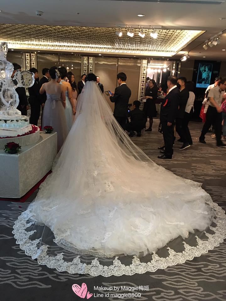新娘白紗進場長頭紗 (10)