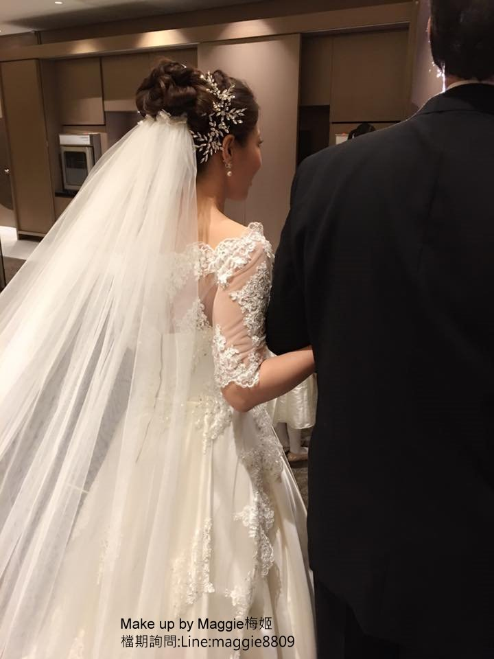 新娘白紗進場長頭紗 (11)