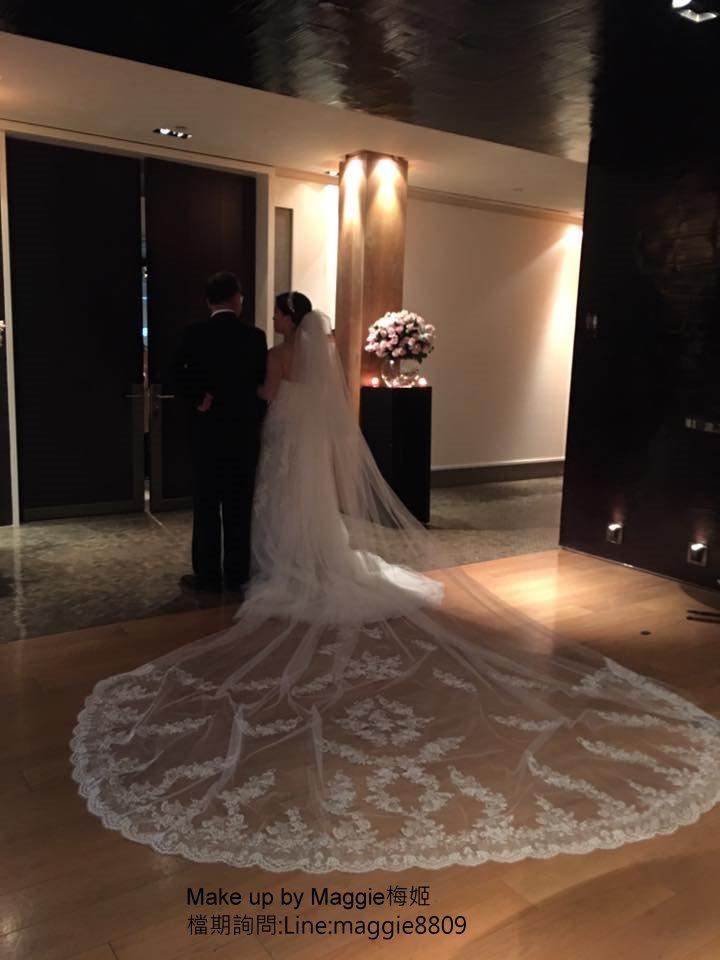 新娘白紗進場長頭紗 (17)