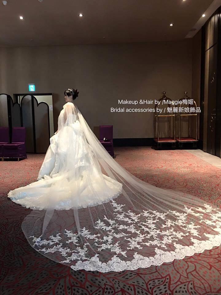新娘白紗進場長頭紗 (28)