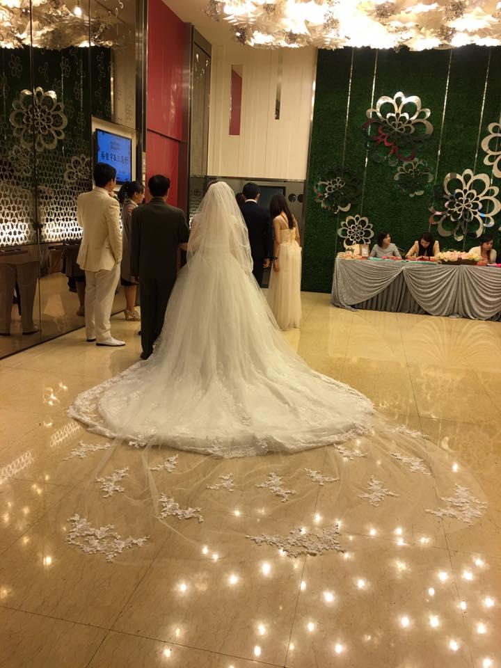 新娘白紗進場長頭紗 (31)