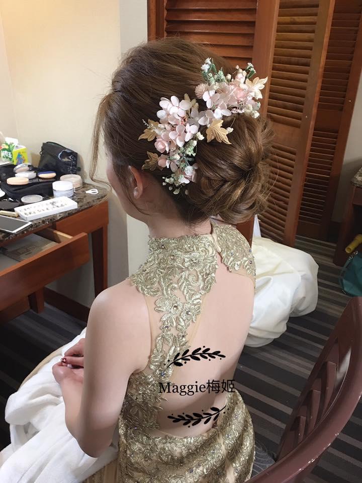 全國飯店 ,文定造型 ,台北新秘 ,頭飾魅麗飾品