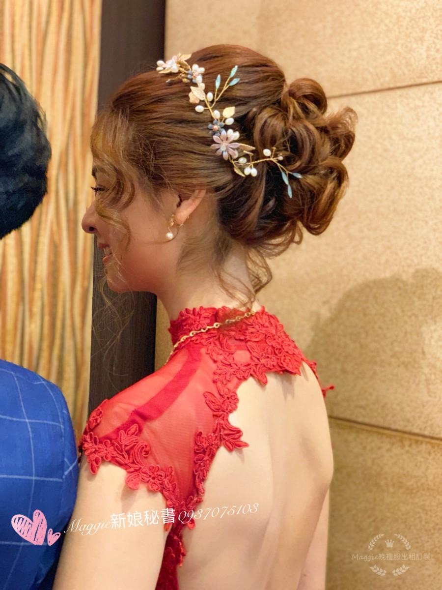 文定造型紅色禮服,好媳婦髮型,進場霸氣造型,敬酒造型,小清新編髮,拉絲仙仙韓風,送客造型,長髮浪漫都會大波浪,