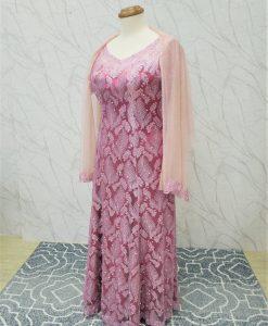 大尺碼,粉色,亮片,長禮服,媽媽禮服,婆婆禮服,主婚人,晚宴服,台北媽媽禮服,